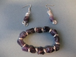 Amethyst and jump ring bracelet and earrings